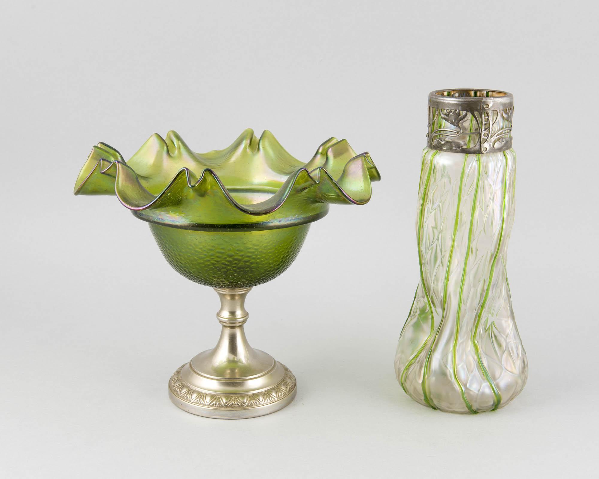 Vase und Aufsatzschale