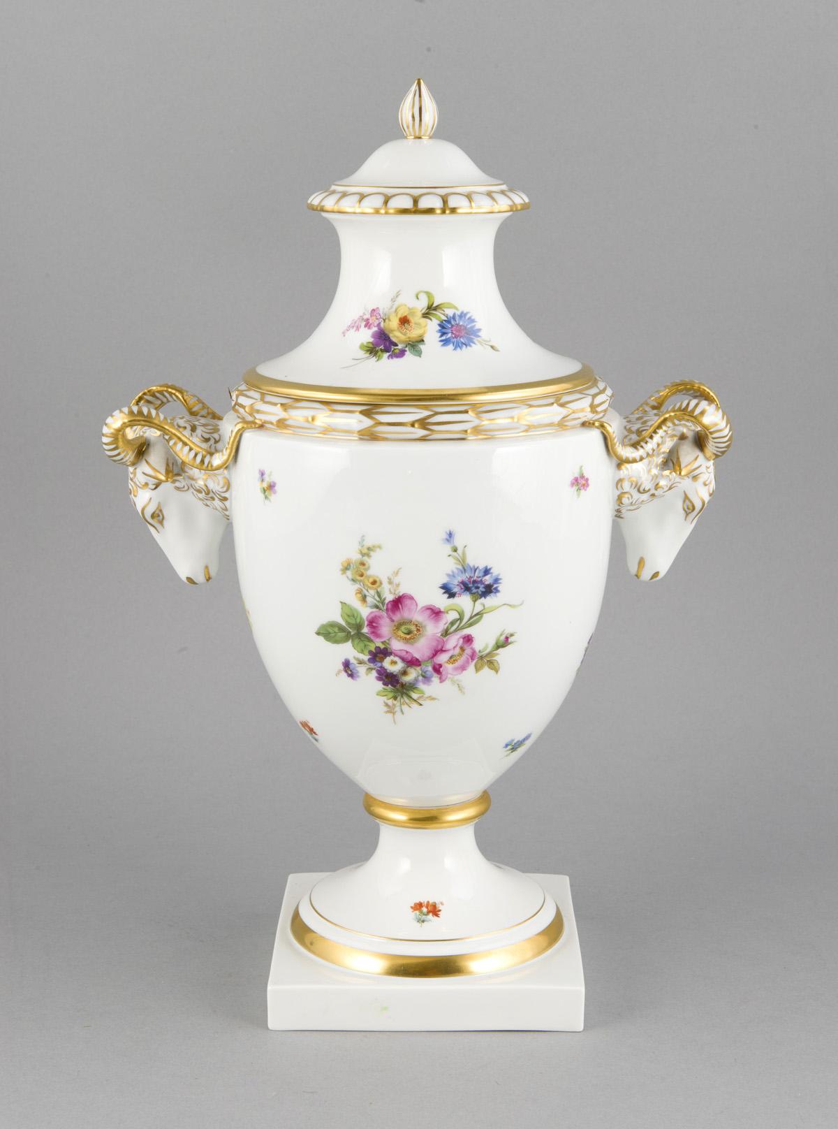 Widderkopf-Vase, Fürstenberg, 20 Jh