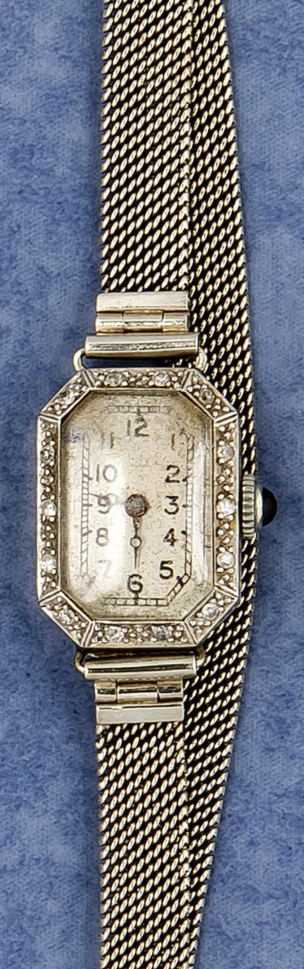 Platin-Diamant-Damenarmbanduhr