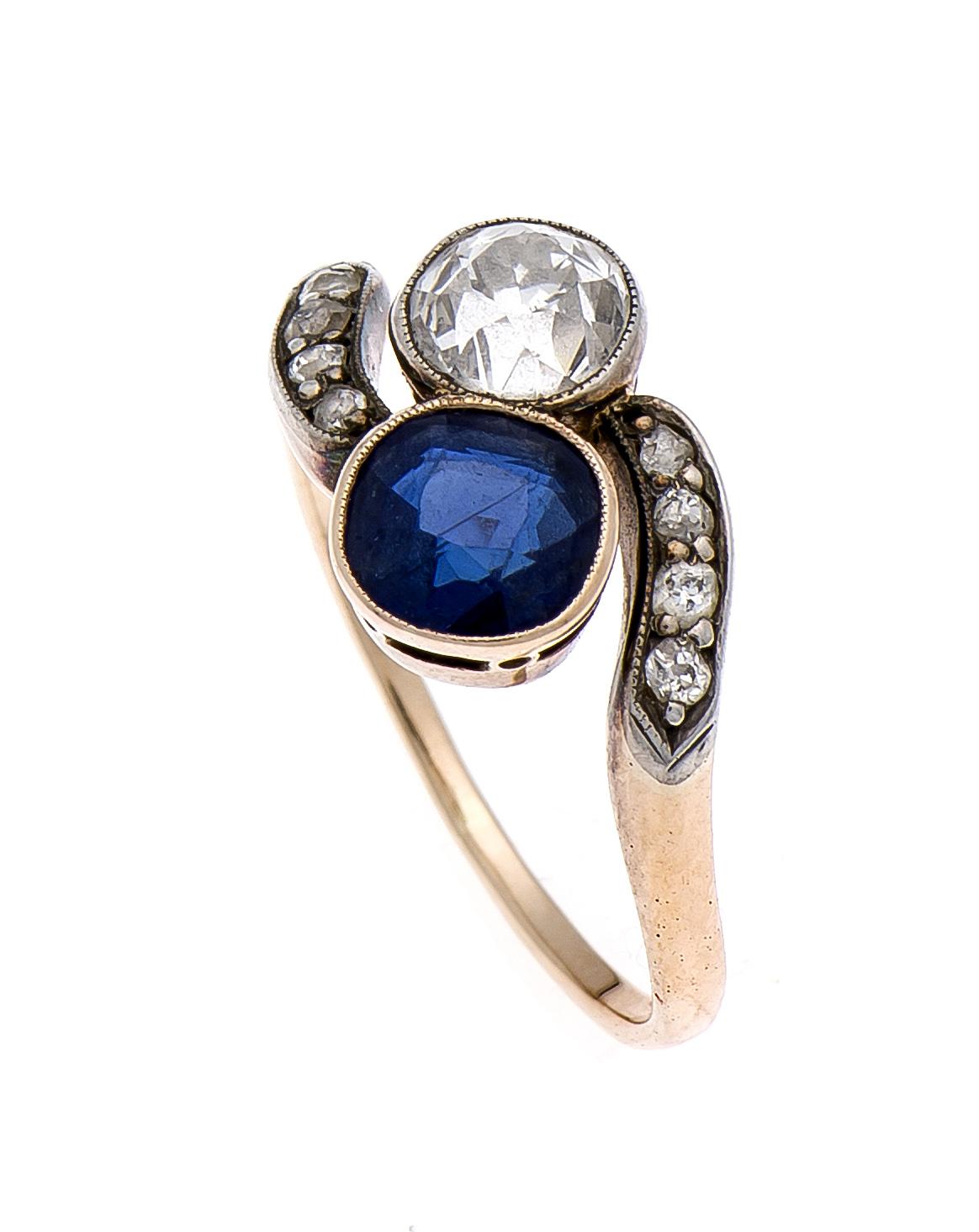 Saphir-Brillant-Diamantring