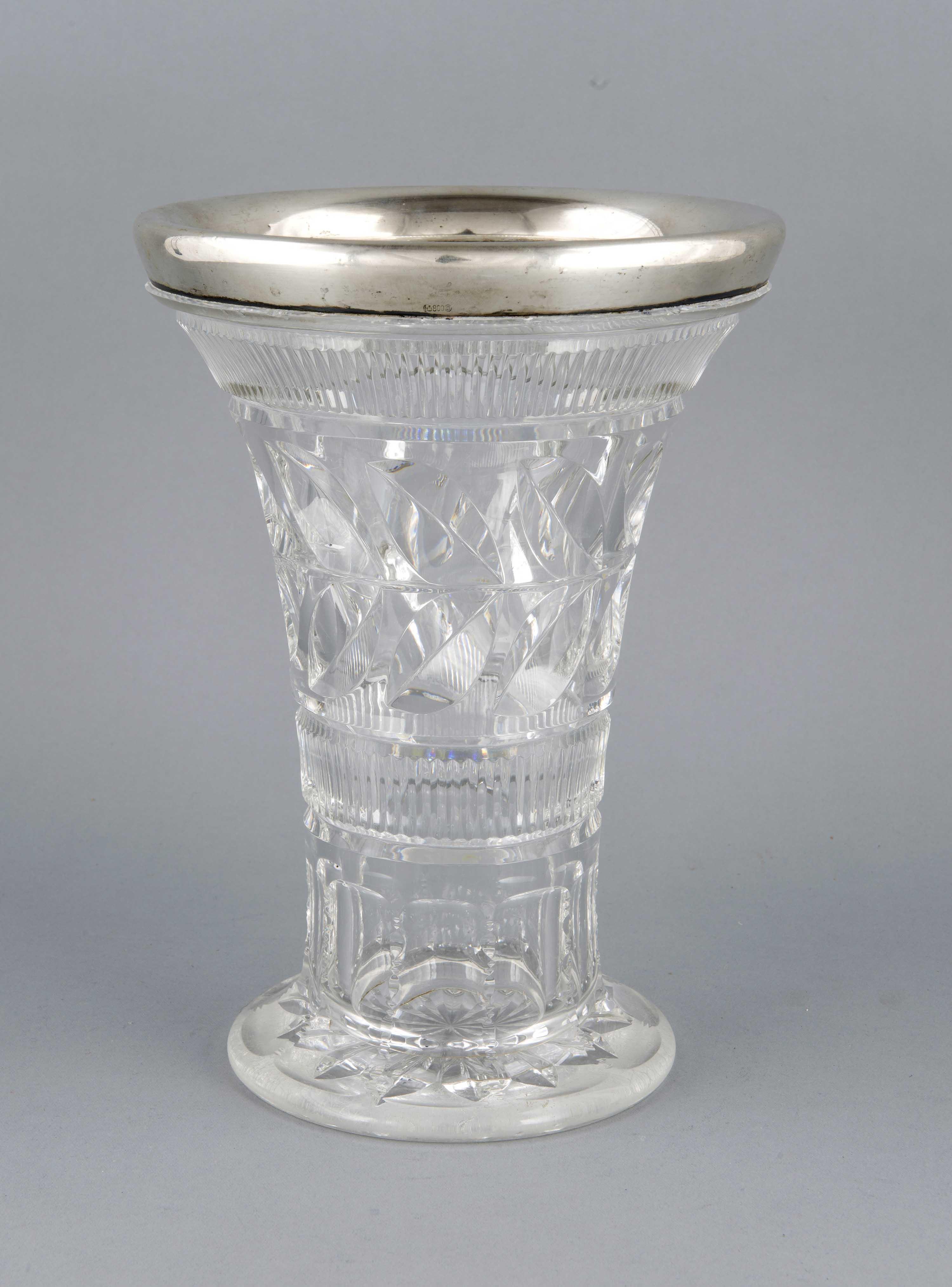 Große Kristallvase