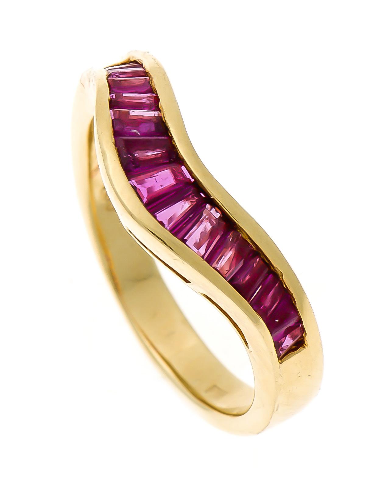 Rubin-Ring GG 750/000 mit feinen fac
