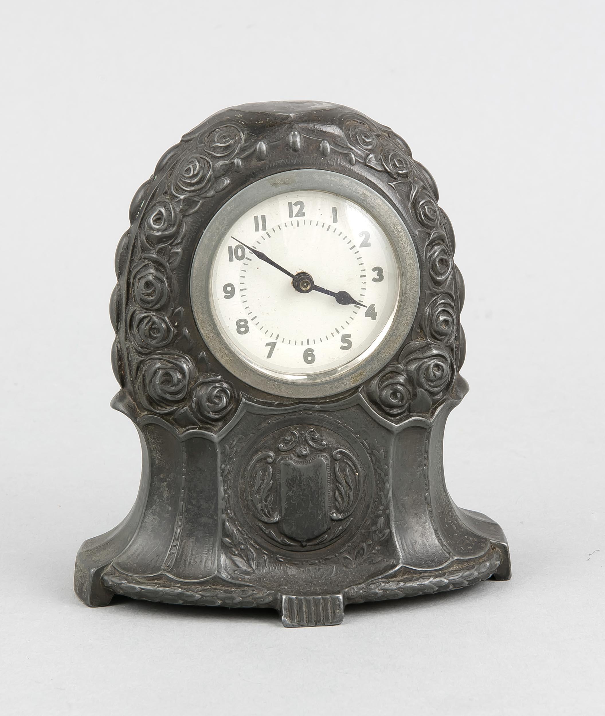 figürliche Tischuhr Uhr Vogel