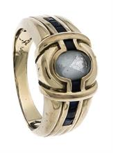 Aquamarin-Saphir-Ring