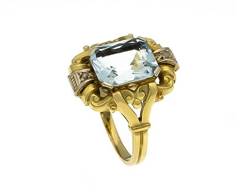 Aquamarin-Diamant-Ring